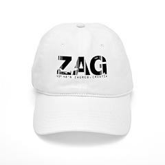 Zagreb Airport Code Croatia ZAG Baseball Cap