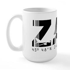 Zagreb Airport Code Croatia ZAG Large Mug