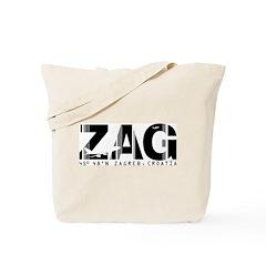Zagreb Airport Code Croatia ZAG Tote Bag