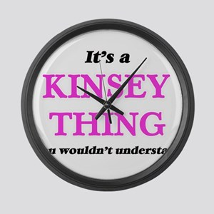 It's a Kinsey thing, you woul Large Wall Clock