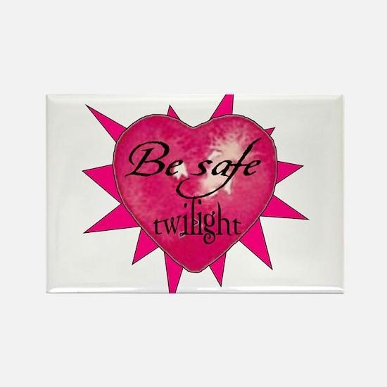 Be safe heart / pink Rectangle Magnet