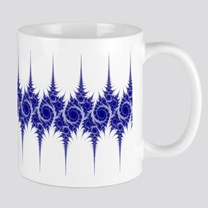 'Roses and Thorns' Fractal Mug (blue and white)