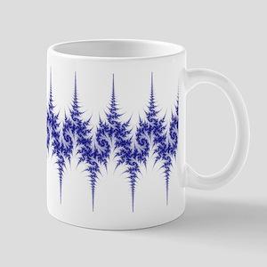 'Pine Forest' Fractal Mug (blue and white)