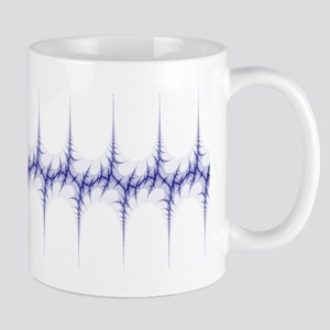 'Fracture' Fractal Mug (blue and white)