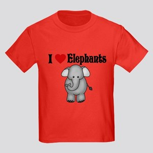 I love Elephants Kids Dark T-Shirt