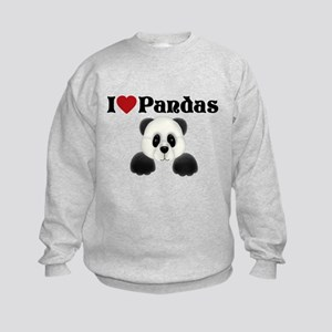 I love pandas Kids Sweatshirt