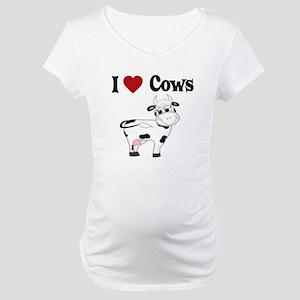 I Love Cows Maternity T-Shirt