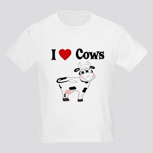 I Love Cows Kids Light T-Shirt