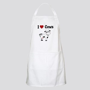 I Love Cows BBQ Apron