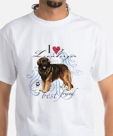 Leonberger White T-Shirt