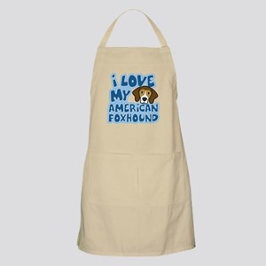 I Love my American Foxhound BBQ Apron