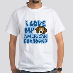I Love my American Foxhound T-Shirt (Cartoon)
