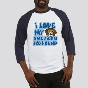 I Love my American Foxhound Baseball Jersey