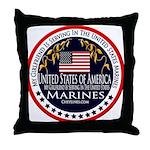 Marine Corps Girlfriend Throw Pillow