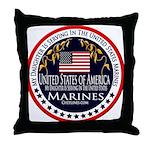 Marine Corps Daughter Throw Pillow