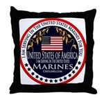 Marine Corps Active Duty Throw Pillow