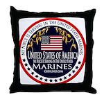 Marine Corps Niece Throw Pillow