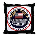 Marine Corps Wife Throw Pillow