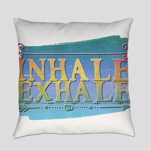 inhale exhale Everyday Pillow