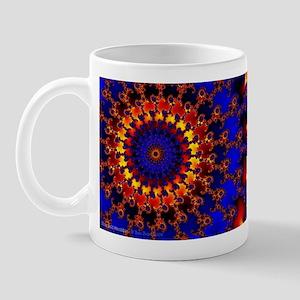 'BlueGold Machine' Fractal Mug