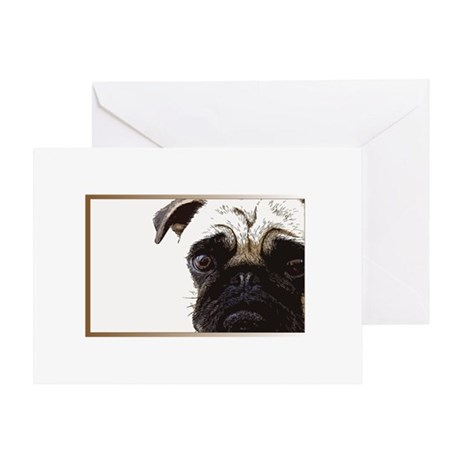 What a Pug Face Greeting Card