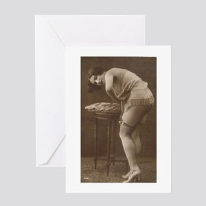 Victorian erotic greeting cards cafepress edwardian underwear model greeting cards pk 10 m4hsunfo