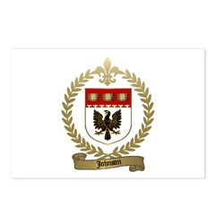 JOHNSON Family Crest Postcards (Package of 8)