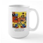 Writing Naked Large Mug