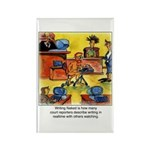 Writing Naked Rectangle Magnet (10 pack)