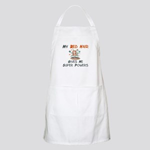 Red hair gives super powers! BBQ Apron