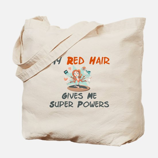 Red hair gives super powers! Tote Bag