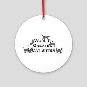World's Greatest Cat Sitter Ornament (Round)