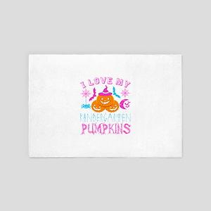 I Love My Kindergarten Pumpkins Hallow 4' x 6' Rug