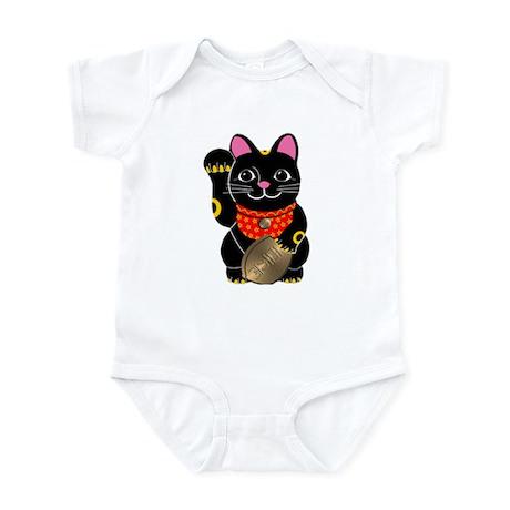 Black Maneki Neko Infant Bodysuit