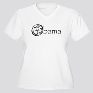 Obama 2008 Women's Plus Size V-Neck T-Shirt