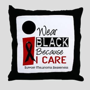 I Wear Black Because I Care 9 Throw Pillow