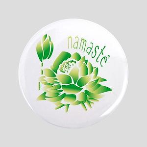 """Go Green Lotus 3.5"""" Button"""
