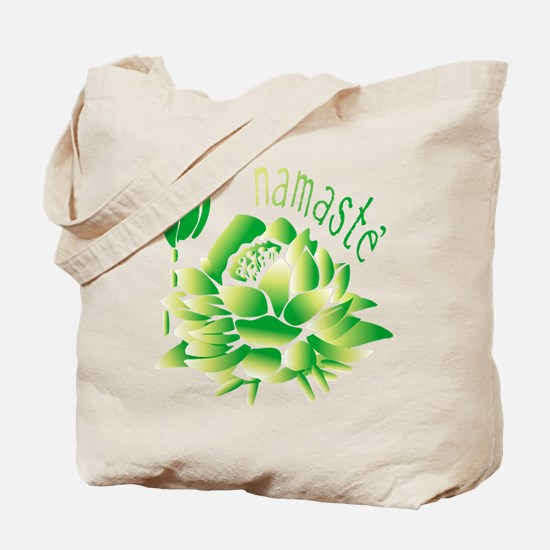 Go Green Lotus Tote Bag