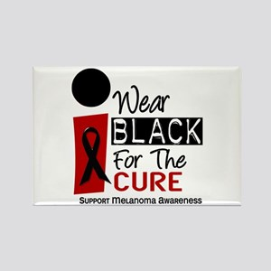 I Wear Black For The Cure 9 Rectangle Magnet