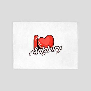 I Love Salzburg Austria Souvenir Gi 5'x7'Area Rug