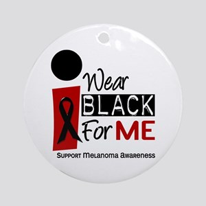 I Wear Black For Me 9 Ornament (Round)