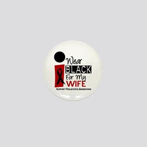 I Wear Black For My Wife 9 Mini Button