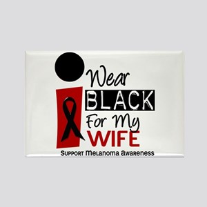 I Wear Black For My Wife 9 Rectangle Magnet