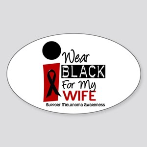 I Wear Black For My Wife 9 Oval Sticker