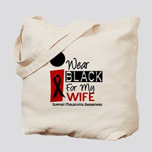 I Wear Black For My Wife 9 Tote Bag