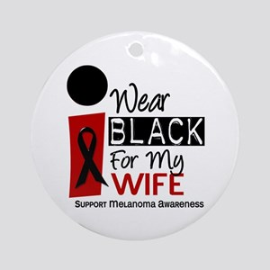 I Wear Black For My Wife 9 Ornament (Round)