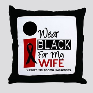 I Wear Black For My Wife 9 Throw Pillow