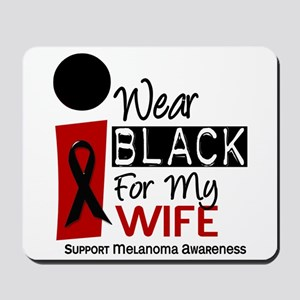 I Wear Black For My Wife 9 Mousepad