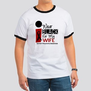 I Wear Black For My Wife 9 Ringer T