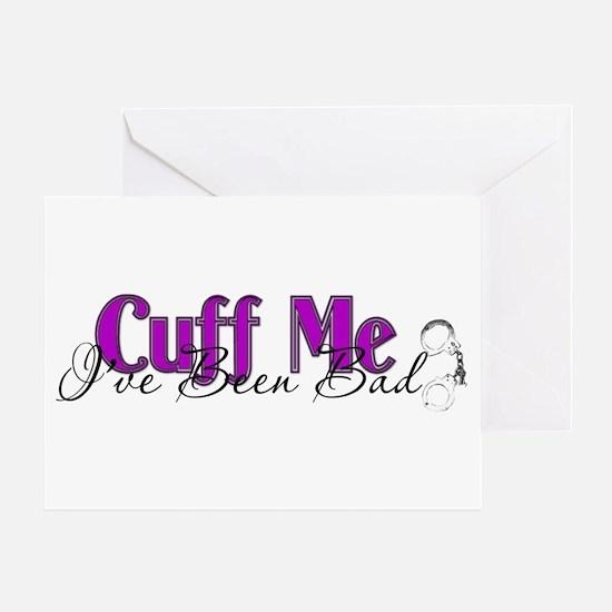 Policewife Cuff Me Greeting Card